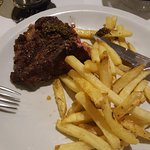 We shared a rib-eye and a patatas fritas