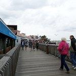 boardwalk in front of restaurant