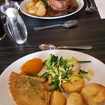 Cheese pie and roast dinner