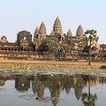 Beautiful reflection of Angkor Wat