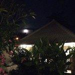 Full moon at Casa Asia Restaurant Bingin