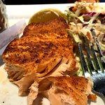 Very dry salmon.