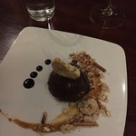Peanut butter tart option with the restaurant week menu