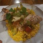 Chicken with squash risotto
