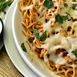 Spaghetti Carbonara and Dinner Salad.