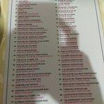 Carta de menu