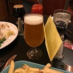 Cheese fries and beer