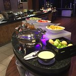 Lots of fruit choices on breakfast buffet