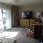 The front room, with nice TV, seating and views