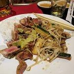 Full portion minus a few veggies