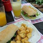 almuerzo, sandwiches