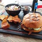 Pork Sandwich and chips