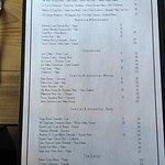 Wine list page 1