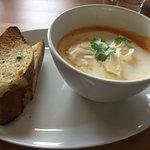Langoustine Soup with Garlic bread