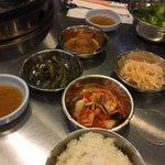 Rice, Beans, Sesame Oil, Kimchi