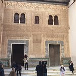Muslim wall with Arabic inscriptions and amazing detailed carving