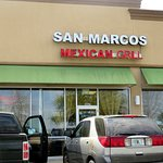 front of & entrance to San Marcos Mexican Grill