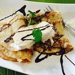 Süßer Pfannkuchen mit Eis (Vegetarisch) Aber auch vegan mit z.B Apfel, Banane o. ä. möglich!