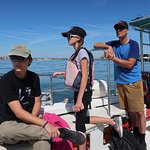 My son and his kids on the eco-tours boat.
