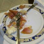 prosciutto crudo ingiallito mozzarella dura ( surgelata)