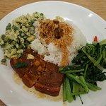 Paket Nasi 1 daging+ 2 sayur