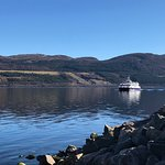 The waters of Loch Ness and the Jacobite Warrior