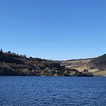 The Urquhart Castle and bay