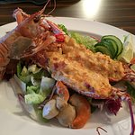 Fresh local seafood, langoustines, lobster, scallops, catch of the day