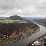 Вид из крепости Кенингштайн на Эльбу