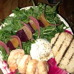 Beet and Buratta salad with Grilled Shrimp - Delish