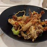 Calamari fritti con salsa di soia