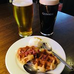 Bacon waffles and beer...for the perfect balanced diet!