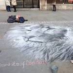 One of many street artists