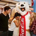 Come meet and have your photo taken with the Coca-Cola Polar Bear.