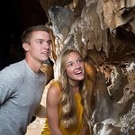 Get close to mineral deposits on a guided, walking cave tour!