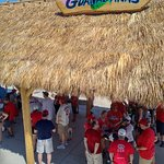 There is a tiki bar behind the third base bullpen.