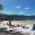 Fresh water lake and cooling swim