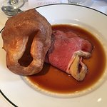 my rare roast beef lunch with Yorkshire pudding. Lovely veg to add