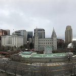 panoramic view of temple square from the LDS Conference Center Roof