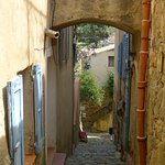 village of Pigna - this street is close to the hotel