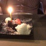 Birthday fudge cake
