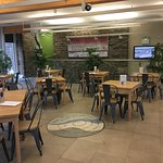 The atrium at Clitheroe castle perfect for events and a great cafe/restaurant at the top.