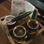Flight of beers to taste