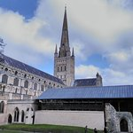 Cathedral spire, nave & refectory