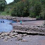 Willamette River access under the bridge