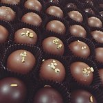 A decadent selection of chocolate truffles from French Broad Chocolate Lounge.