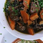 Mushroom ragout with mashed sweet potatoes