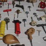A small museum of corkscrews.