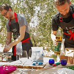 Pasta making in the olive grove