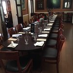 The Flagler Room at Vienna Cafe is booked for private parties of up to 30 people.